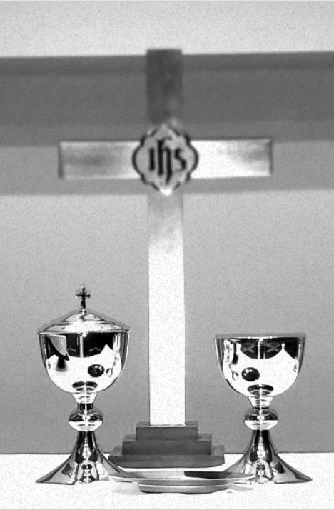 Communion Cross Closeup Holga
